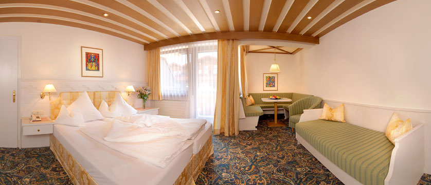 Hotel Garni Strass, Mayrhofen, Austria - Sporthotel bedroom.jpg
